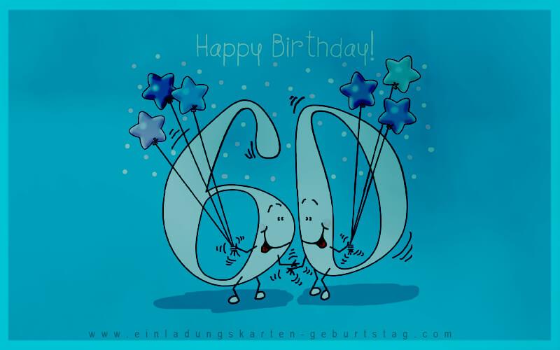 Einladungskarten 60. Geburtstag Selbst Basteln 1