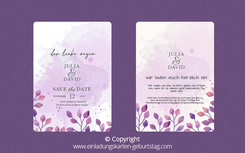 Einladungskarten Hochzeit 1