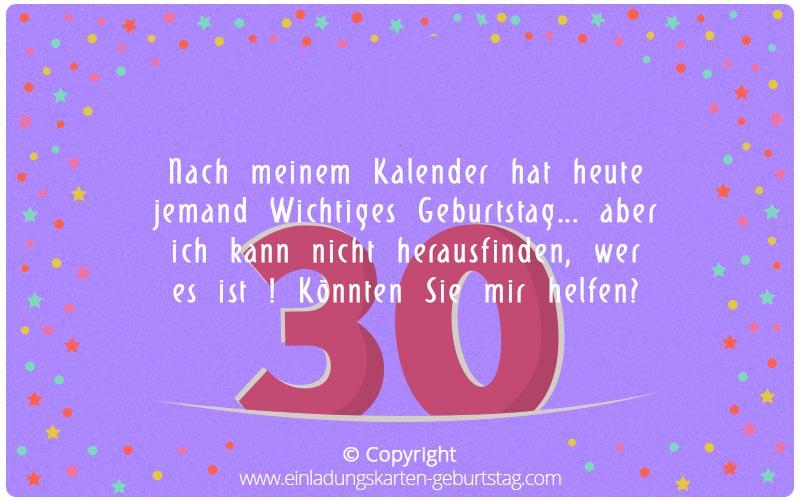 Witzige Bilder mit Text zum 30. Geburtstag