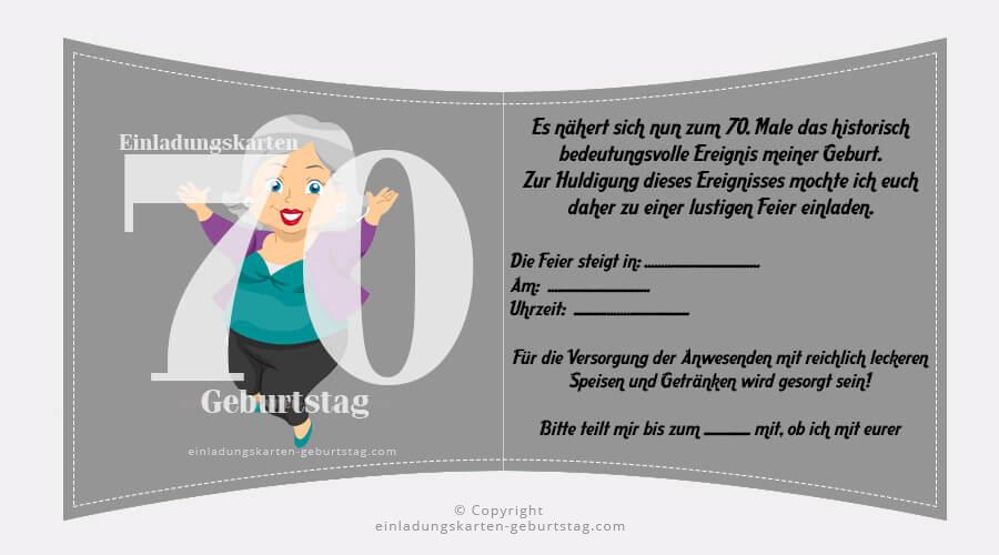 Einladungskarten 70. Geburtstag