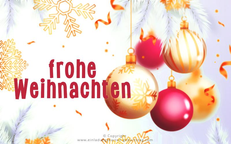 Frohe Weihnacht wünsche