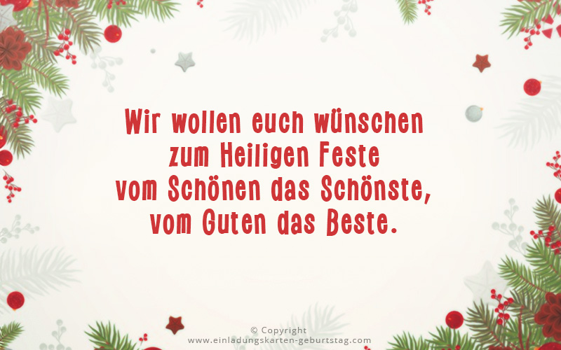 Frohe Weihnachtswünsche